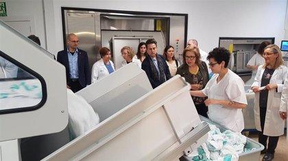 El Clínico de Zaragoza estrena su nueva lavandería, que podrá gestionar hasta tres millones de kilos de ropa al año