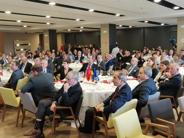 Acto de entrega de los Premios Cámara 2019 de la Cámara Navarra de Comercio.