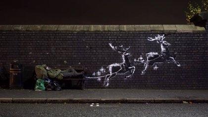 Un nuevo mural de Banksy critica la situación de las personas sin hogar