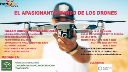 La Junta de Andalucía desarrolla en Rota (Cádiz) un taller sobre el mundo de los drones