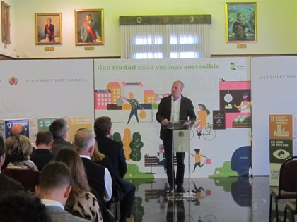 Azcón quiere que Zaragoza sea la primera ciudad de España en consumir y producir energía verde