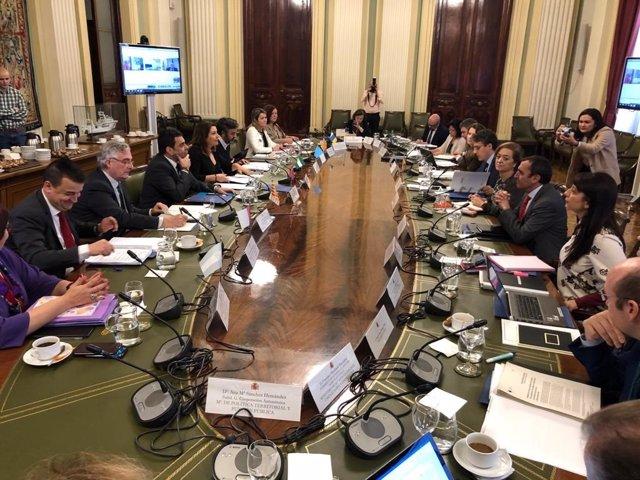 Imagen de los Consejos Consultivos de Política Agrícola y Pesquera y la Conferencia Sectorial de Pesca, celebrados en Madrid con la asistencia de la consejera Carmen Crespo.