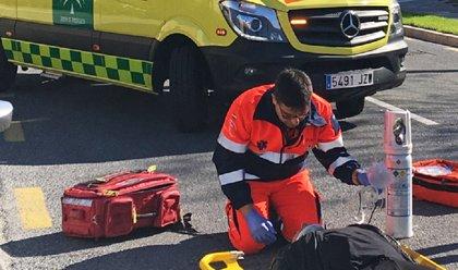 Heridas cuatro mujeres por la salida de vía de un camión en la A-7 a la altura de Roquetas de Mar (Almería)