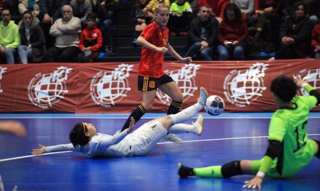 La selección española femenina de fútbol sala golea a Japón