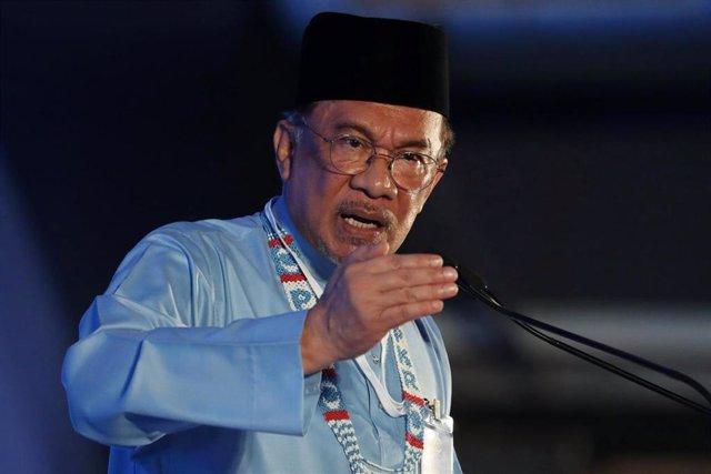 El presidente del Partido de la Justicia Popular, Anwar Ibrahim.