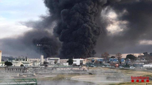 Incendio en Montornès del Vallès