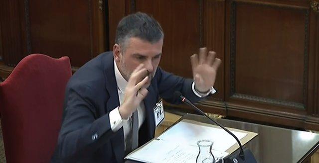 Interrogatorio a Santi Vila en el juicio por el 'procés'