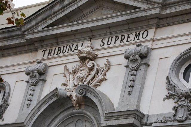 Façana del Tribunal Suprem, Madrid (Espanya), 29 de novembre del 2019.