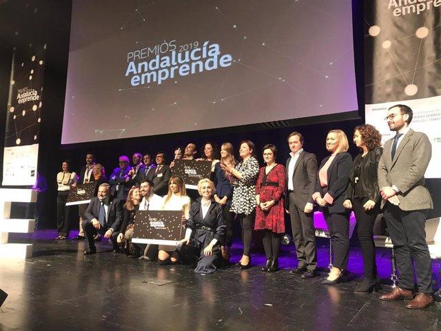 Entrega de los Premios Andalucía Emprende en Málaga.
