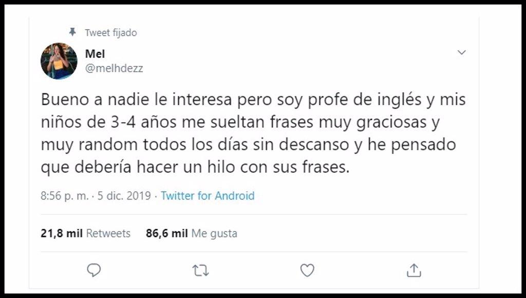 Las Hilarantes Frases De Los Niños De 3 Y 4 Años De Una Profesora De Inglés Que Han Conquistado Twitter