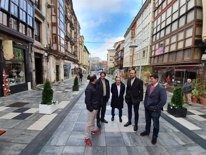 Reforma integral de la calle Ancha de Torrelavega tras 465.000 euros de inversión