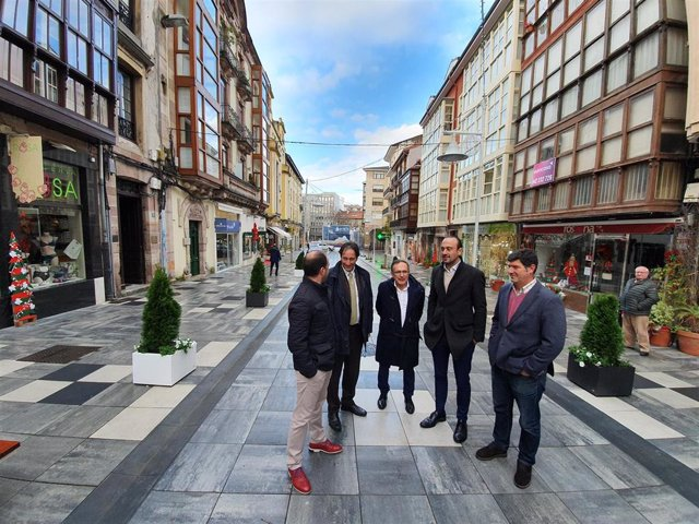 Inauguración reforma integral calle Ancha de Torrelavega