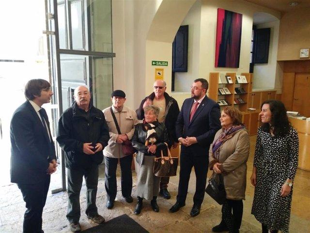 Participantes en el programa 'Añoranza' visitan el Bellas Artes.