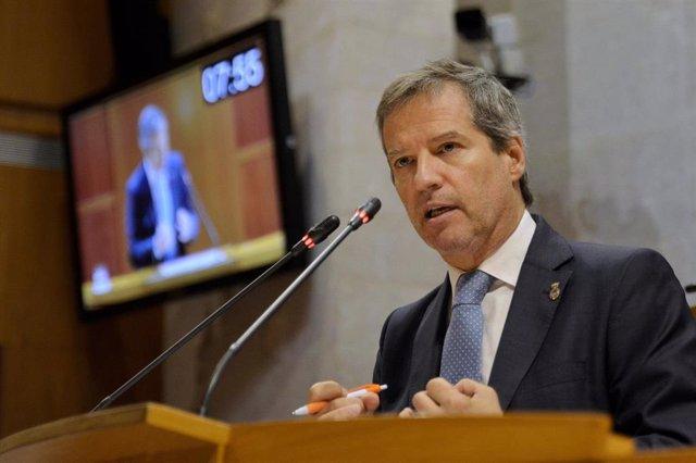 El portavoz de Cs en las Cortes de Aragón, Daniel Pérez