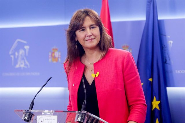 La portavoz de Junts en el Congreso de los Diputados, Laura Borràs