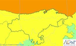 Avisos activos para este jueves en Cantabria
