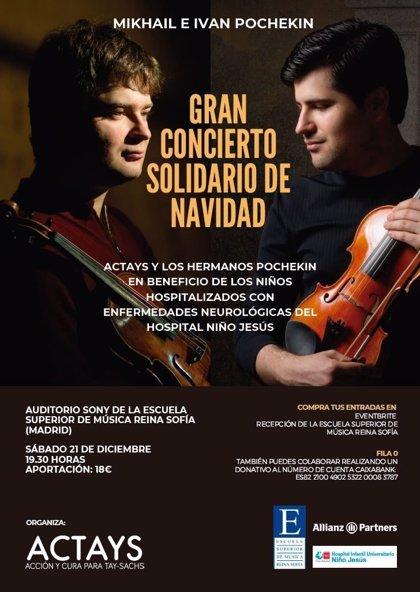 COMUNICADO: Música clásica y solidaridad de la mano del dúo Pochekin, la asociación Actays y Allianz Partners