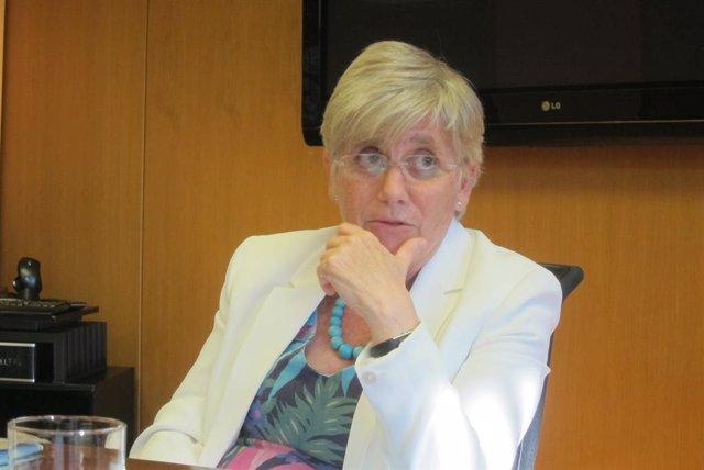 L'exconsellera Clara Ponsatí, en una imatge d'arxiu.