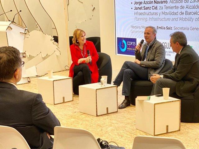 Azcón en un debate de la  XXV Conferencia de Naciones Unidas sobre el Cambio Climático (COP25)