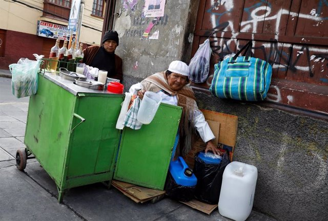 Vendedores callejeros en La Paz