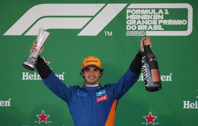 Carlos Sainz, en el Gran Premio de Brasil 2019.