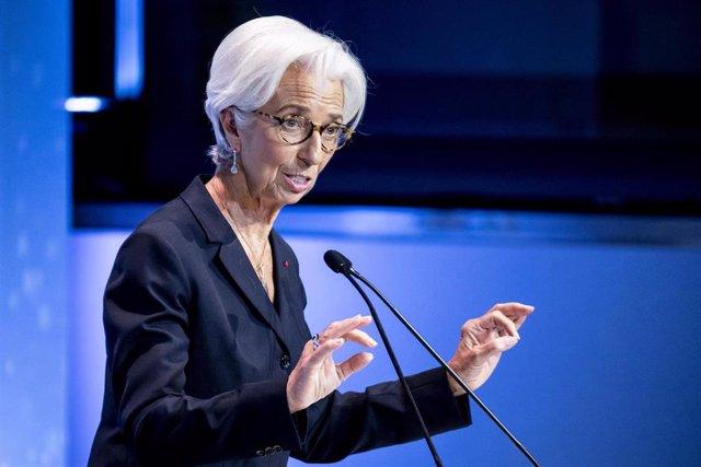 04 November 2019, Berlin: Christine Lagarde, President of the European Central Bank (ECB), speaks at the Night 2019 Gala of the Association of German Magazine Publishers (VDZ),