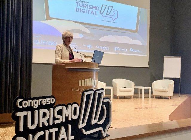 La consejera de Turismo, Marina Lombó
