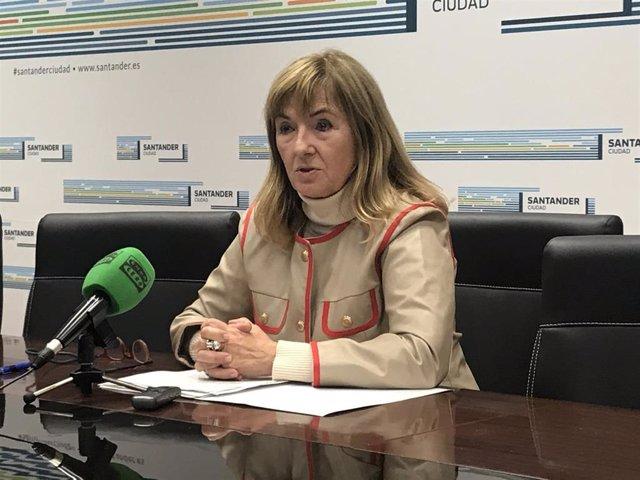 La concejala de Cultura del Ayuntamiento de Santander, María Luisa Sanjuán (Cs)