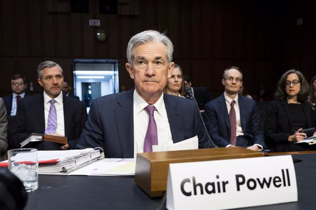 November 13, 2019 - Washington, DC, United States: Federal Reserve Chairman Jerome Powell speaking at a hearing of the Joint Economic Committee. (Michael Brochstein/Contacto)