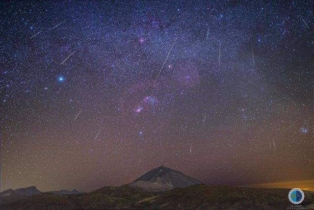 Lluvia de las Gemínidas desde el Observatorio del Teide