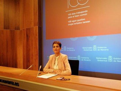 """La presidenta de Navarra pide """"responsabilidad"""" para iniciar la legislatura en España"""