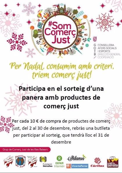 El Govern organiza un sorteo de cestas de navidad con productos de comercio justo para fomentar el consumo responsable