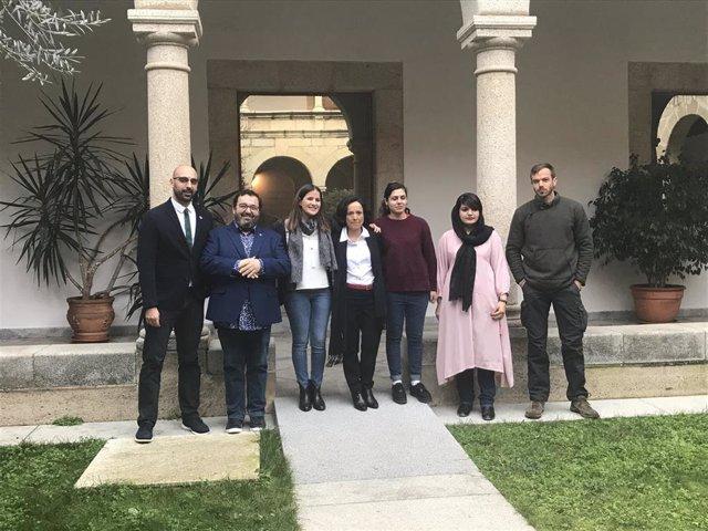 Recibimiento de los galardonados de los Premios 'Extremadura Global'.