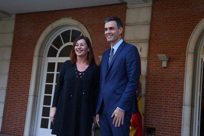 """Armengol espera que Sánchez atienda las demandas de Baleares """"de manera muy rápida"""", cuando forme gobierno"""