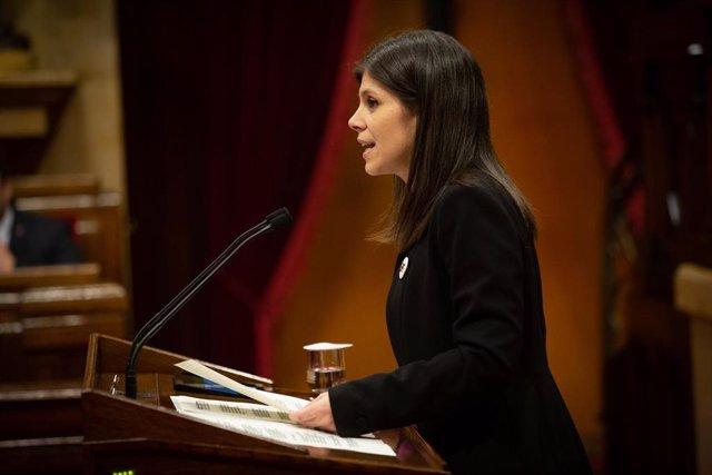 La portavoz de ERC en el Parlament de Catalunya, Marta Vilalta (archivo)