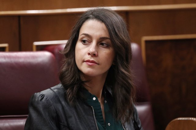La diputada de Ciudadanos, Inés Arrimadas, durante la sesión de constitución de las Cortes para la XIV Legislatura en el Congreso de los Diputados, Madrid (España), a 3 de diciembre de 2019.