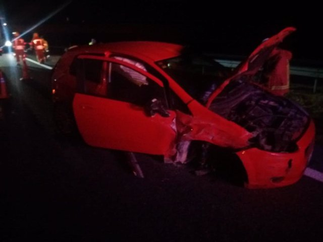 El cotxe implicat en l'accident a Utiel