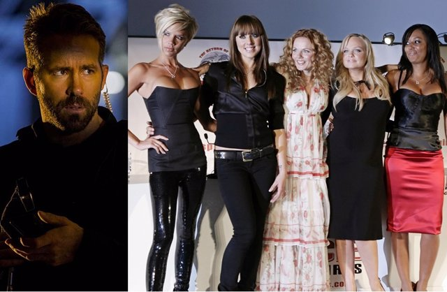 Ryan Reynolds y las Spice Girls