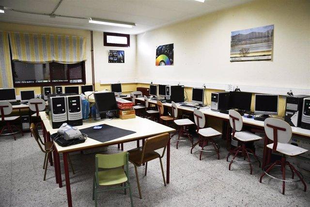 Aula de informática del colegio Joaquín Costa de Madrid.