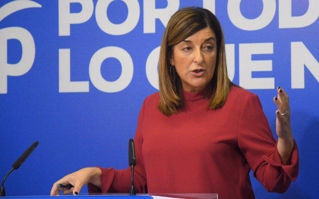 María José Sáenz de Buruaga, líder del PP cántabro