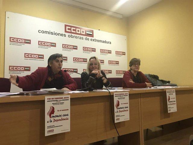 Presentación de la movilización de CCOO por la dependencia.