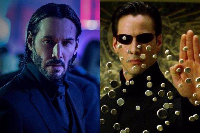 Keanu Reeves en John Wick y Matrix