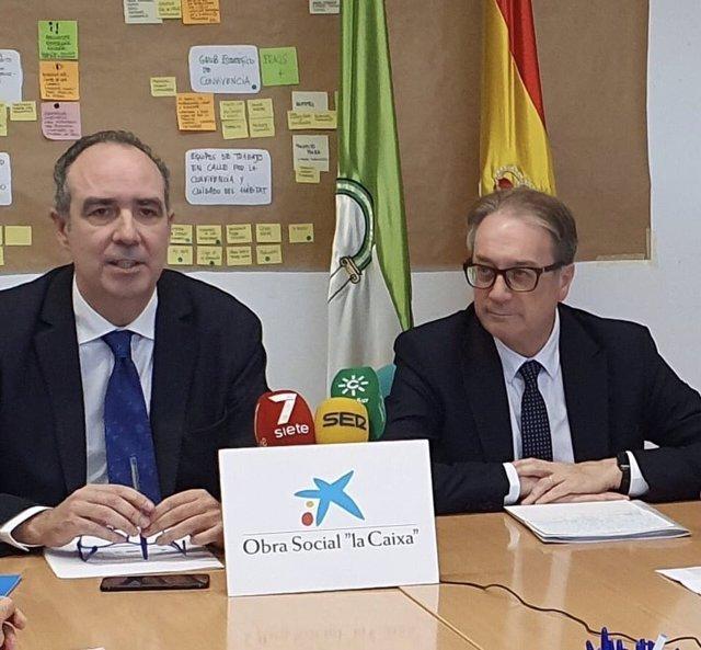 Rueda de prensa sobre el balance de las acciones conjuntas entre el Comisionado de la Junta para Polígono Sur y la Fundación Bancaria La Caixa