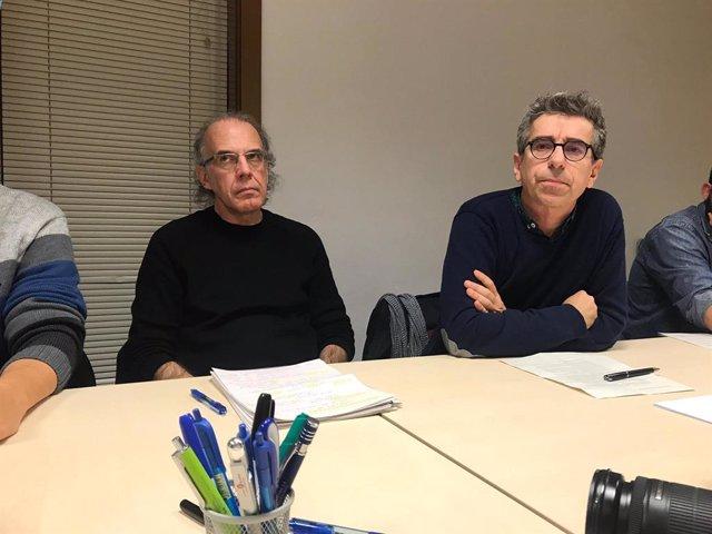 El director de l'Institut d'estudis regionals i metropolitans de Barcelona (Iermb), Ricard Gomà, i el vicepresident de Planificació Estratègica de l'Àrea Metropolitana de Barcelona (AMB) i regidor de Presidència de Barcelona, Jordi Martí.