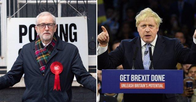 Borish Johnson y  Jeremy Corbyn