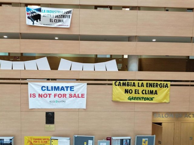 Instalaciones de la Cumbre Social del Clima, en Madrid