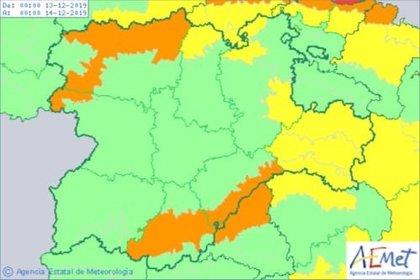 Activados niveles naranja y amarillo de aviso en siete provincias de CyL por rachas de viento de hasta 100 km/h