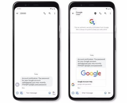 Los SMS verificados de Google llegan a España