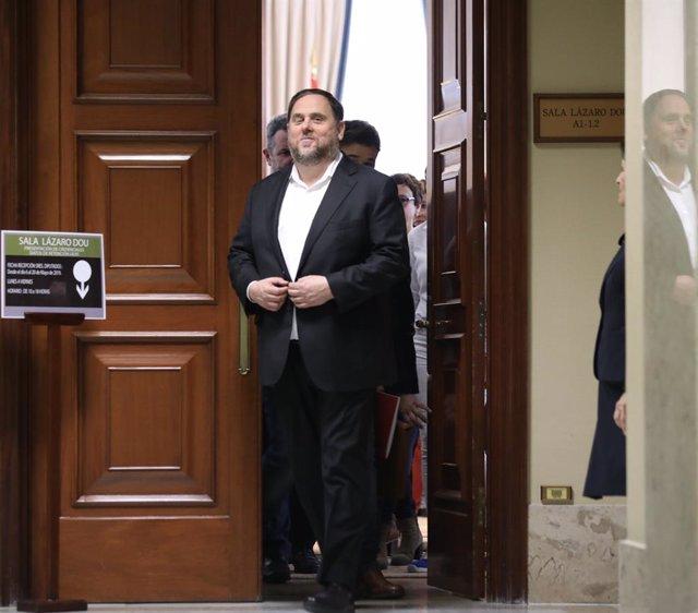 El líder d'ERC, Oriol Junqueras, en una imatge d'arxiu