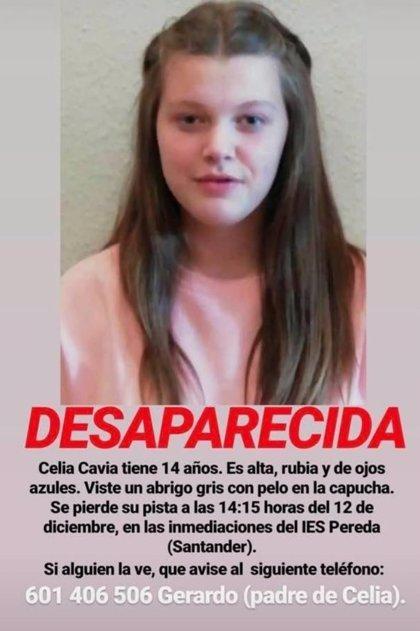 Se busca a una niña de 14 años desparecida ayer en Santander